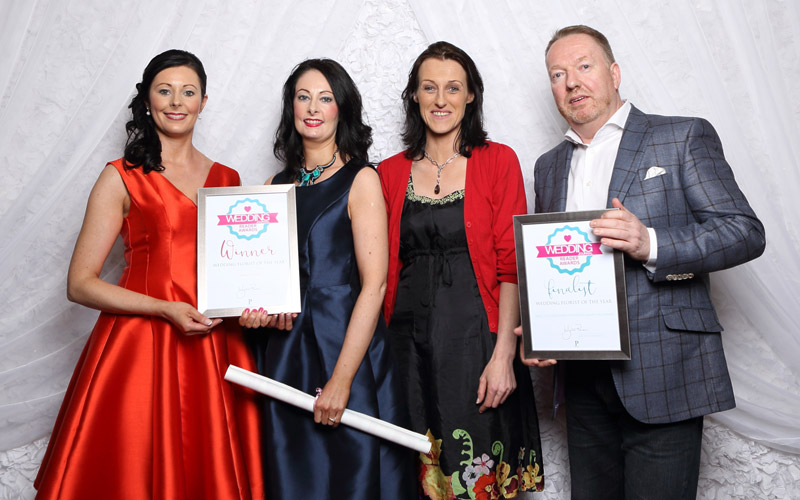 Wedding Florist of the Year - La Belle Fleur, pictured with David McConkey and Barbara Scanlon from Wedding Journal