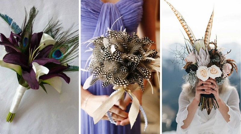 feather wedding decoration 2