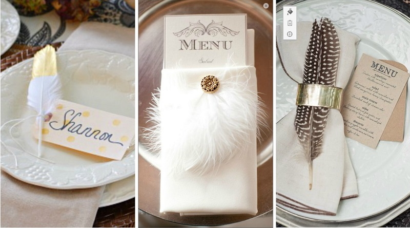 feather wedding decoration 4