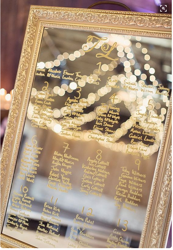 Mirror table plan, Want That Wedding
