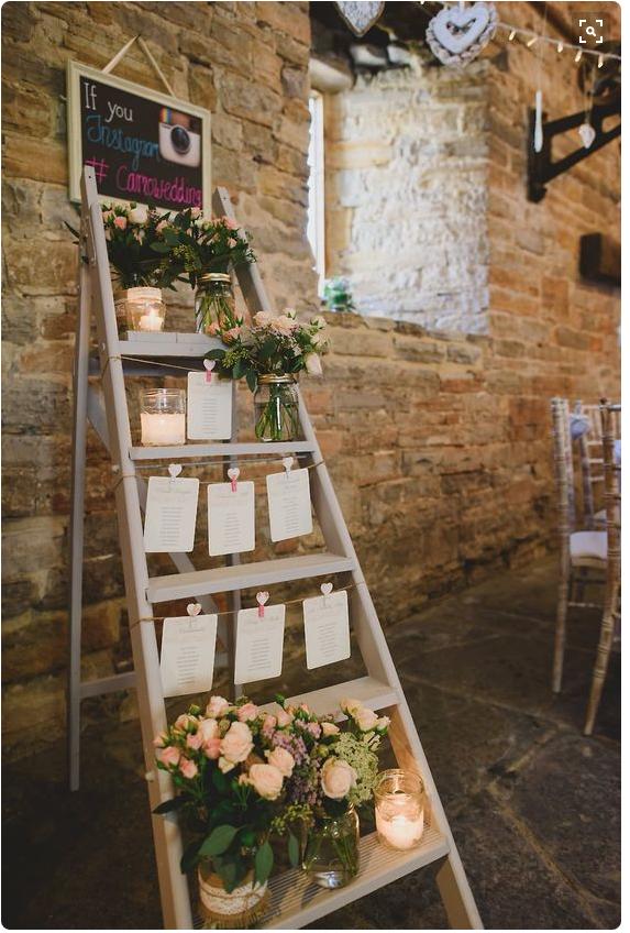 Step ladder table plan via Rock My Wedding on Pinterest