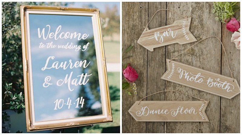 outdoor wedding styling - signage