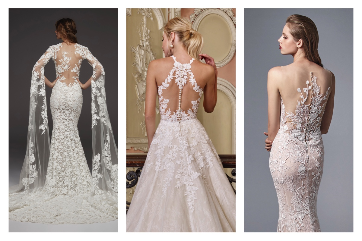 Beautiful wedding Dress Backs
