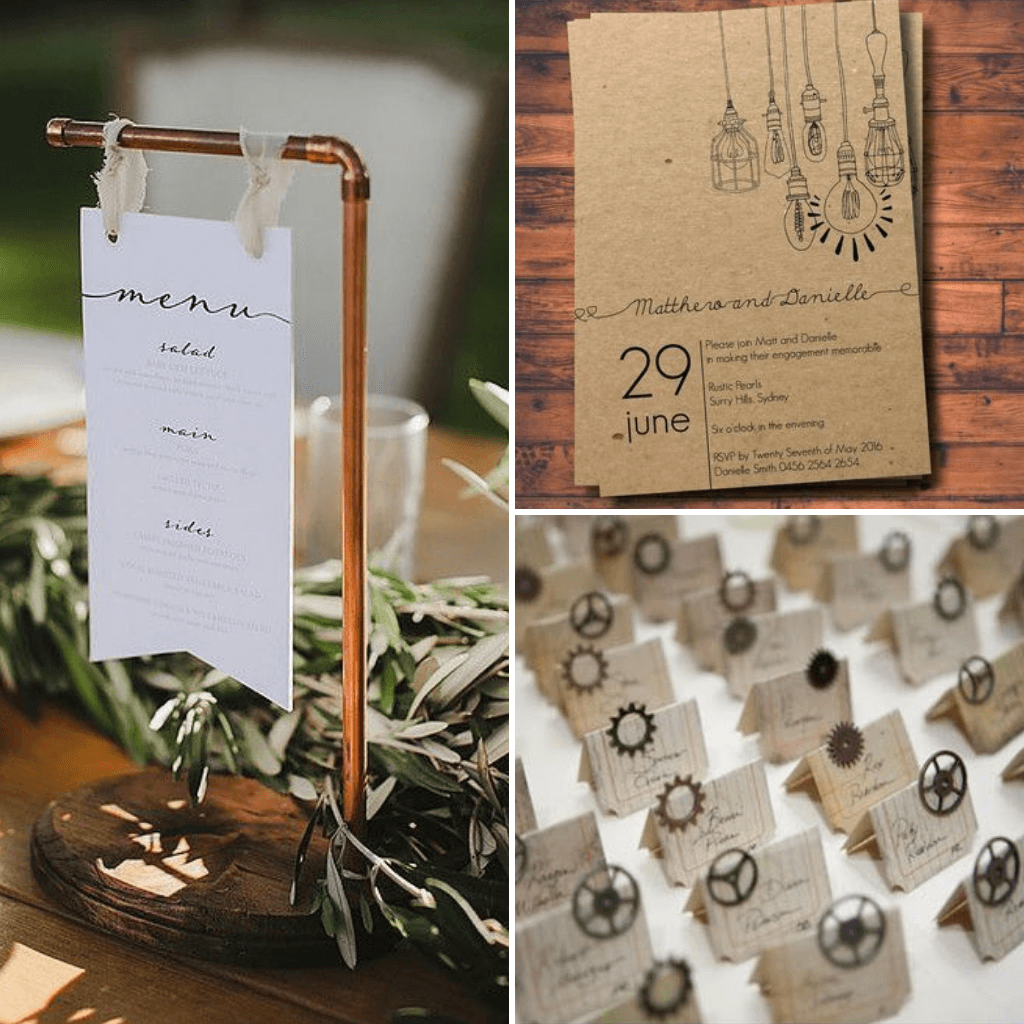 Industrial-Wedding-Theme-Stationery