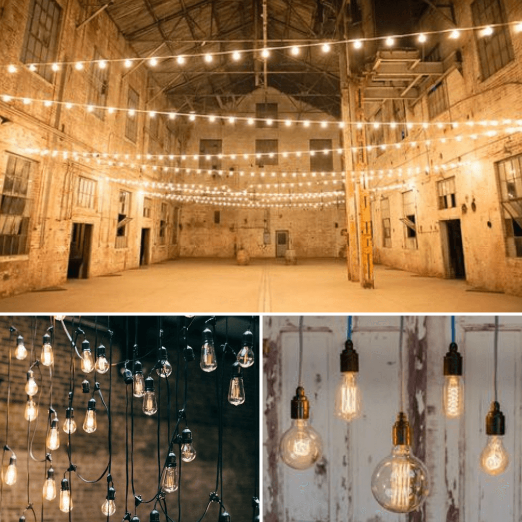 Industrial-Wedding-Theme-Lighting
