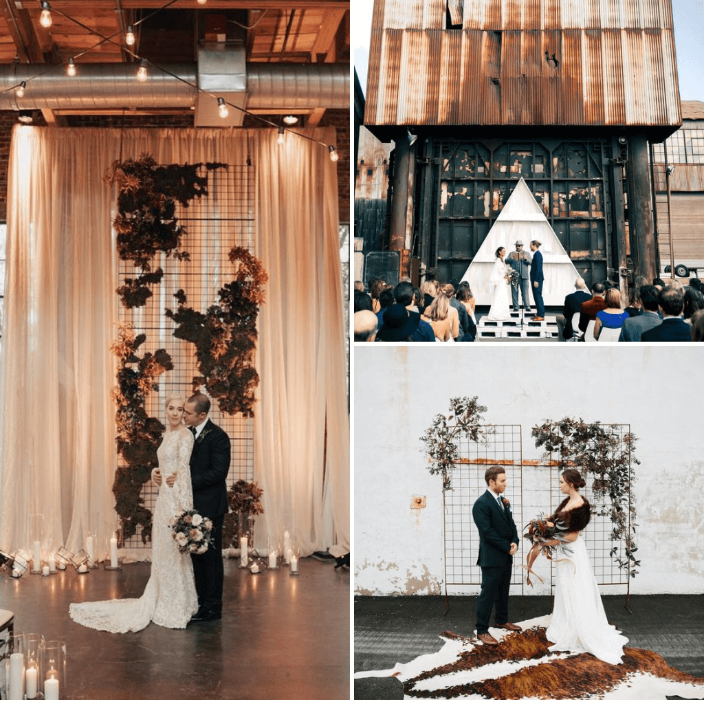Industrial-Wedding-Theme-Ceremony-Backdrop