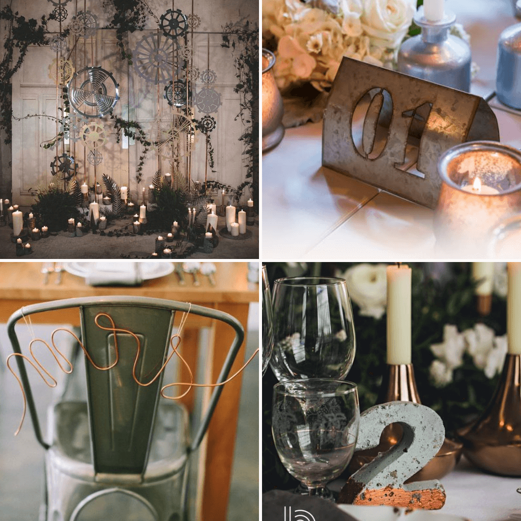 Industrial-Wedding-Theme-Metal