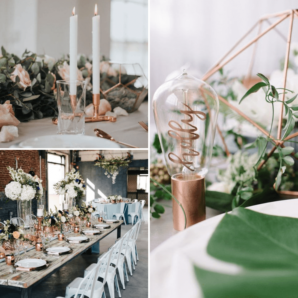 Industrial-Wedding-Theme-Tablescape