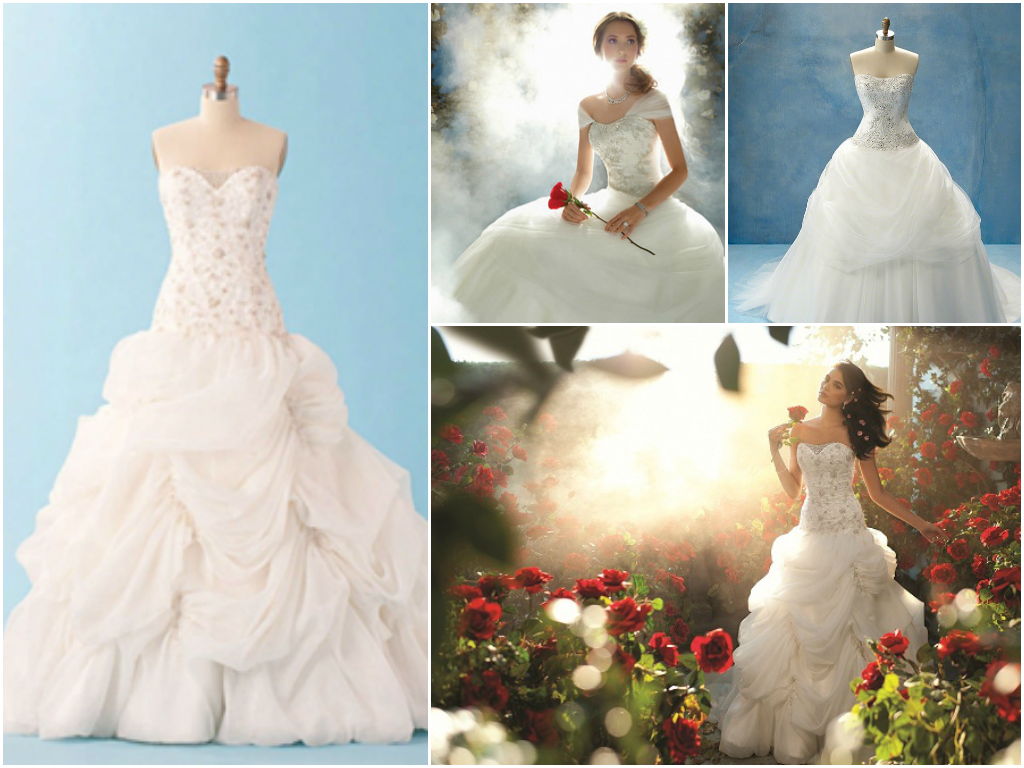 Disney princess bridal gowns for Belle style wedding dress