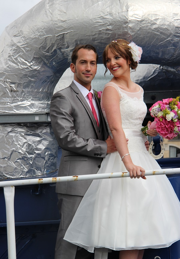 Real Irish Wedding The Belfast Barge, Lanyon Quay 5