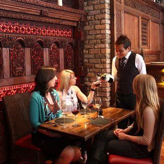 girls having dinner