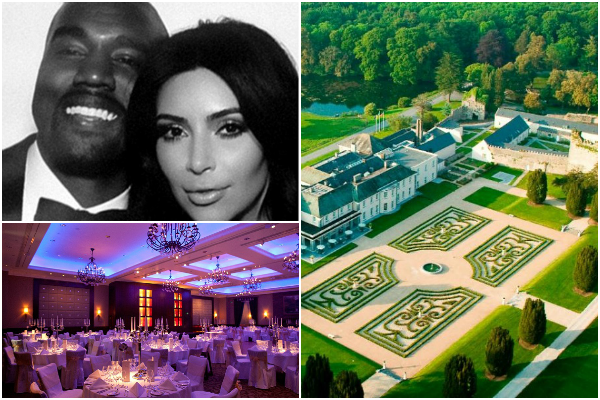 Kim and Kanye, Castlemartyr Resort, Cork Wedding Venues