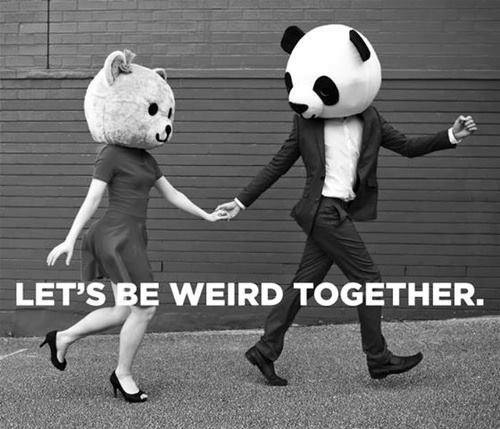 being married is awesome let's be weird together
