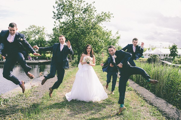Wedding Photography Tips jumping wedding party