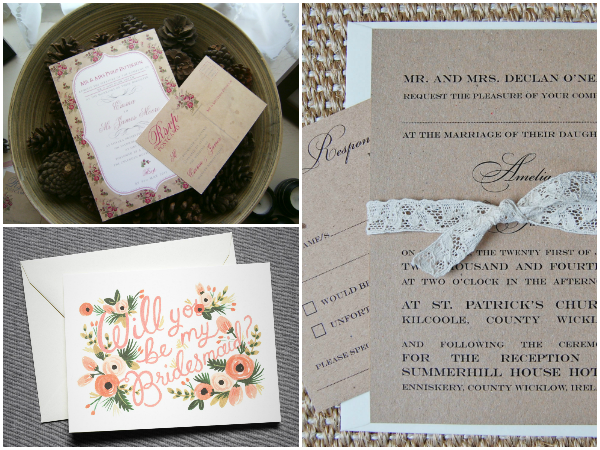 Darling Stationery, Rifle Paper Company, Lots of Love Invitations