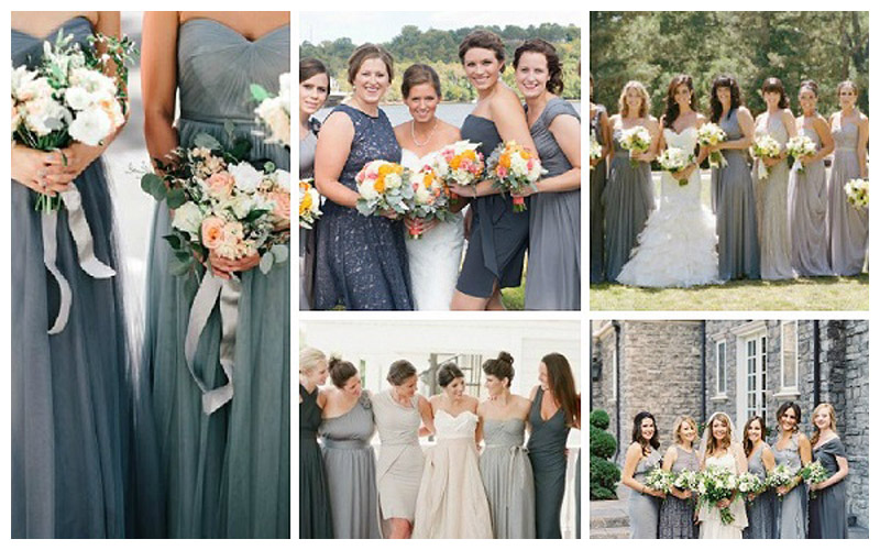 Shades Of Grey Bridesmaid Dresses
