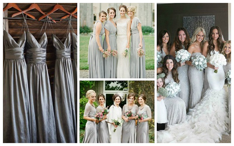 Silver-Grey-Bridesmaid-Dresses