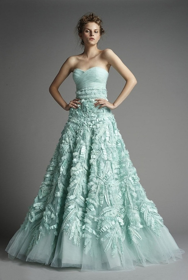 Mint Wedding Dresses 11