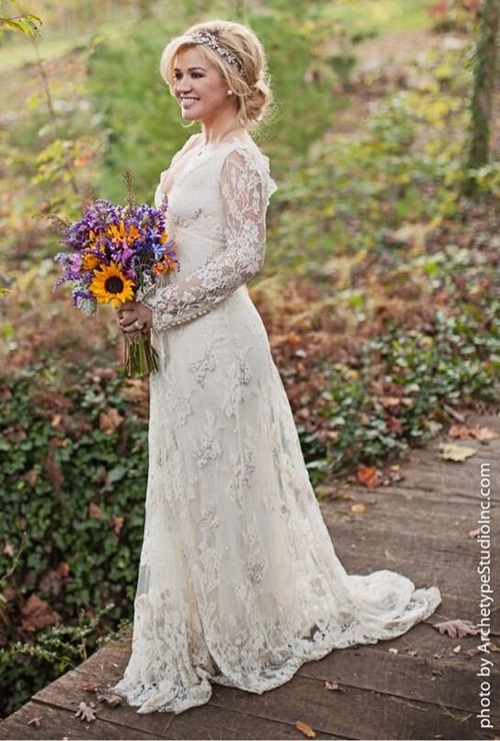 celebrity wedding dress 4