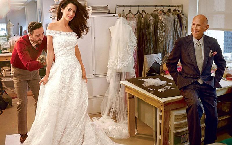 Top 12 Celebrity Oscar De La Renta Wedding Dresses