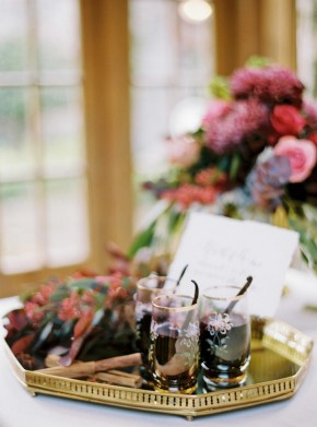 autumn wedding ideas drinks