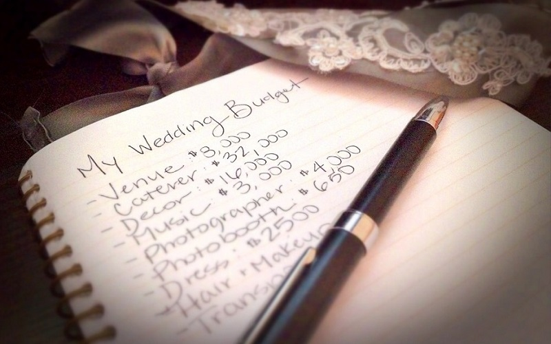 wedding budget notebook