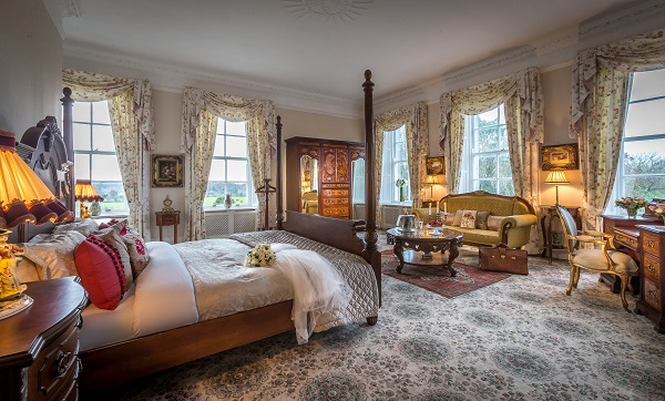 Irish Wedding Venue Palmerstown House Estate bridal suite