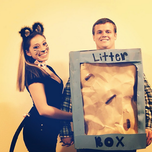 cat and litter box costume