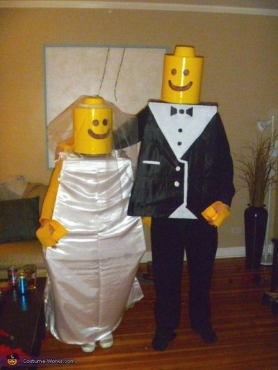 couples halloween costumes lego men