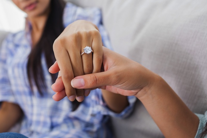 things that change when you get engaged diamond ring