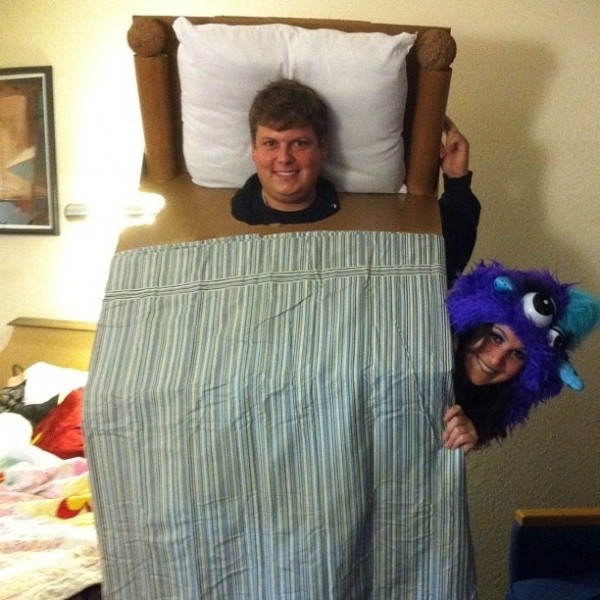 couples halloween costumes monster under the bed