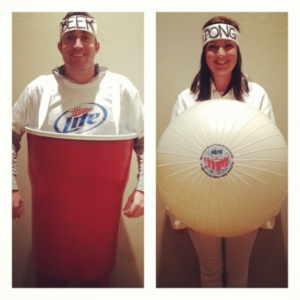 couples halloween costumes beer pong