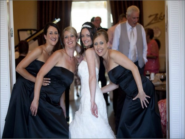 athenaeum house hotel bride and bridesmaids