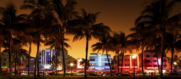 Ocean Drive in South Beach, Miami Beach, Florida