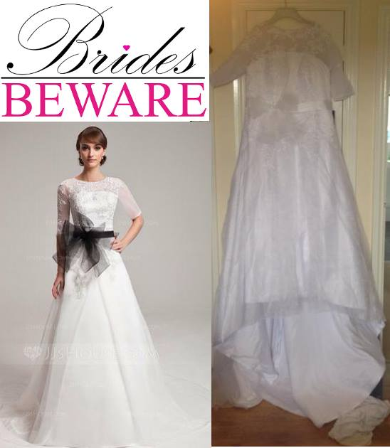 buying a wedding dress online fails