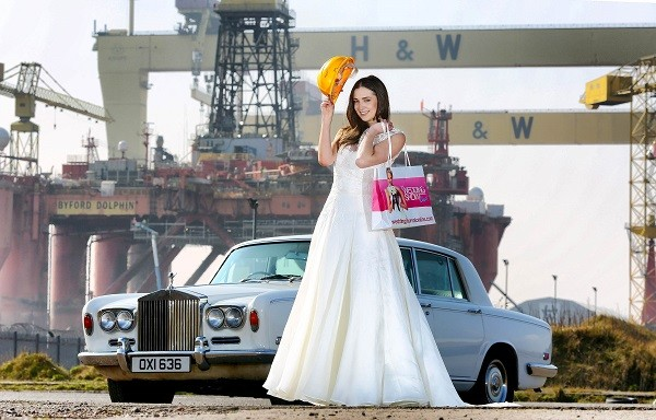 bride at Harland and Wolff Belfast