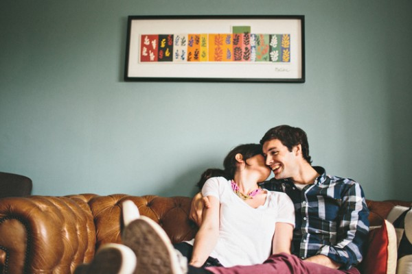 unique engagement shoot ideas at home