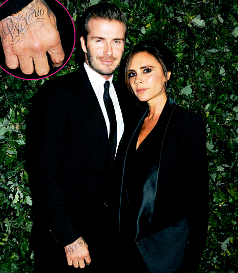 David & Victoria Beckham tattoo