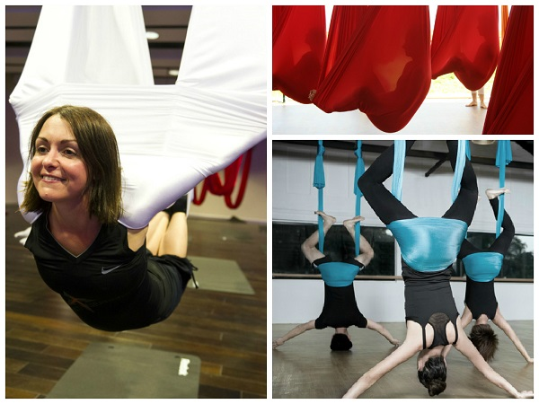 aerial yoga, unique yoga trends 2015