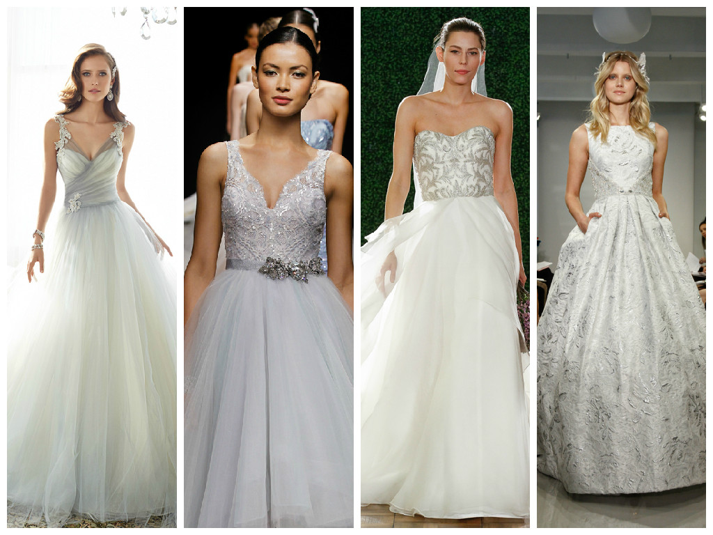 2015 Trend Alert: Metallic Wedding Dresses