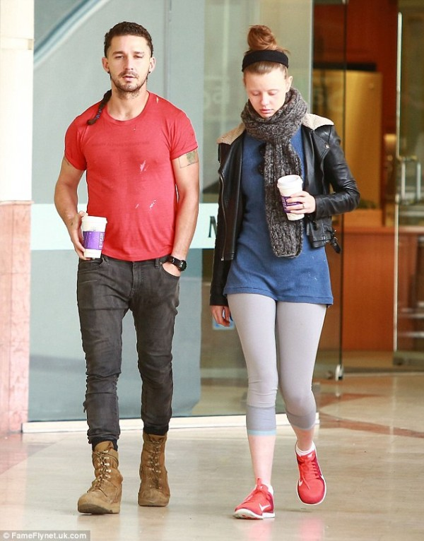 Shia LeBeouf and Mia Goth  engaged