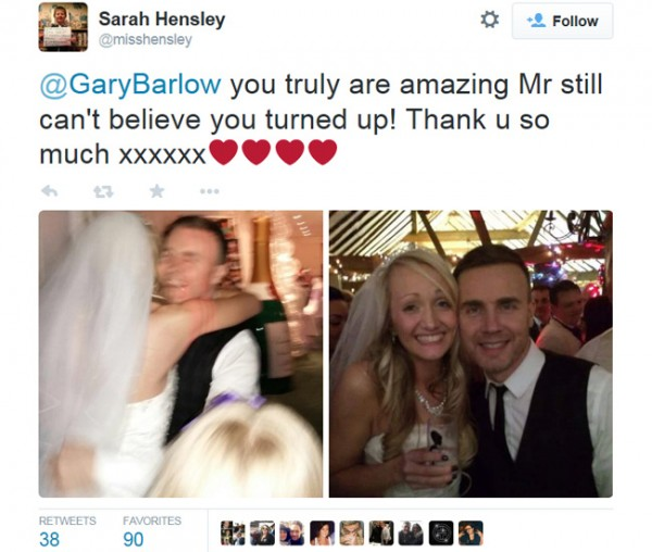 Gary Barlow Wedding