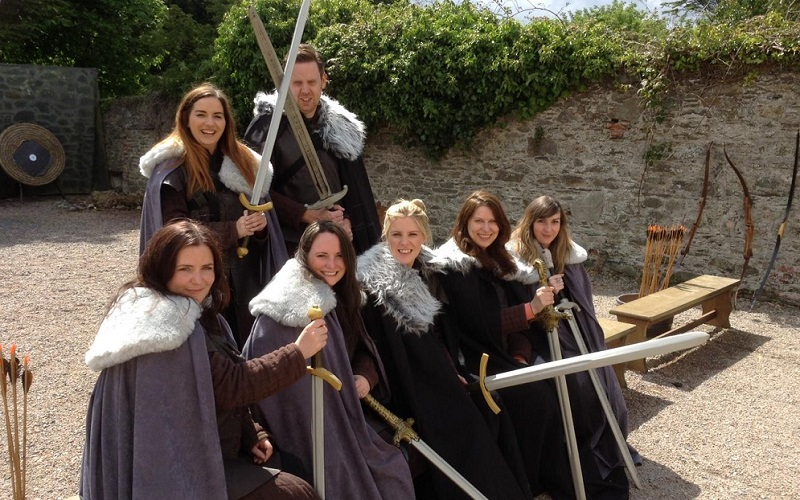 group dressed up as game of thrones