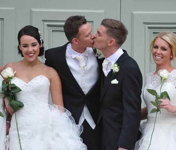 Carl Hyland and Kieron Richardson wedding