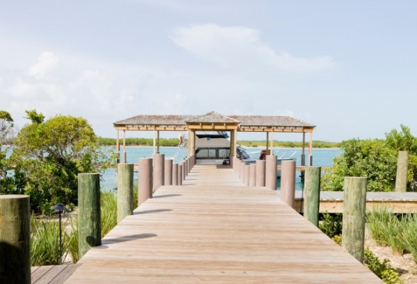 Arrival dock at Parrot Cay