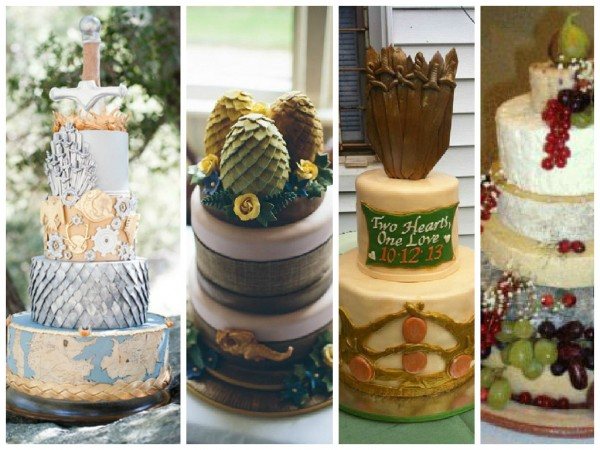 game of thrones themed wedding cakes