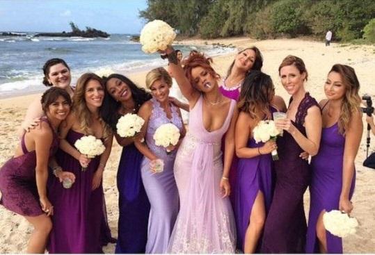 Rihanna Bridesmaid