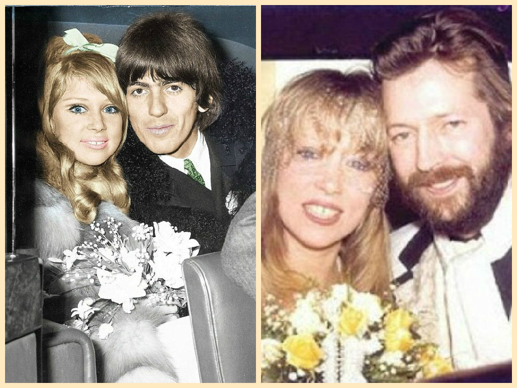 Image result for george harrison eric clapton pattie boyd