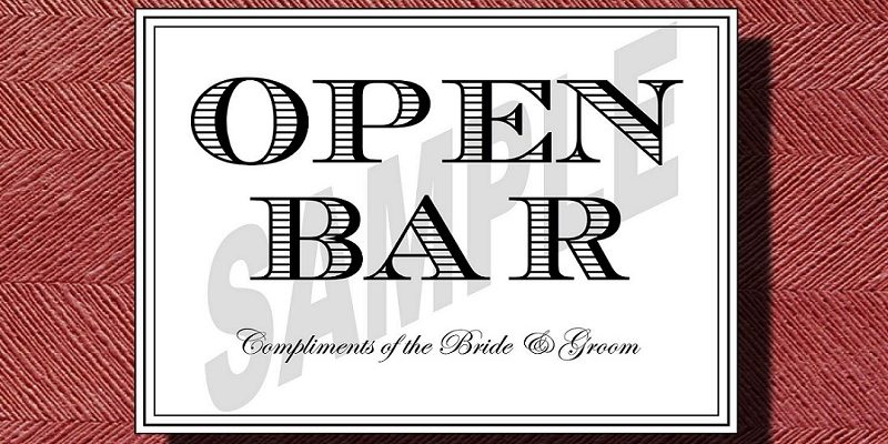 Open Bar Sign