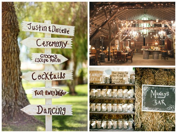 rustic wedding collage